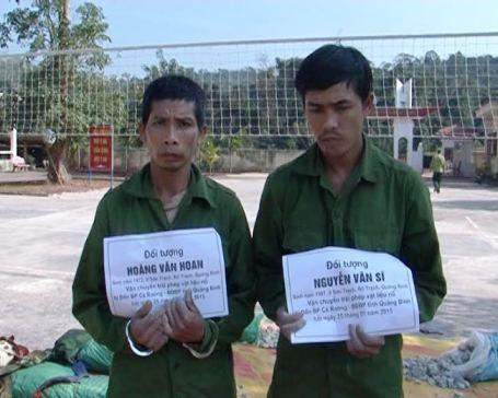 2 đối tượng bị bắt giữ tại cơ quan điều tra vì hành vi buôn bán và vận chuyển chất nổ trái phép