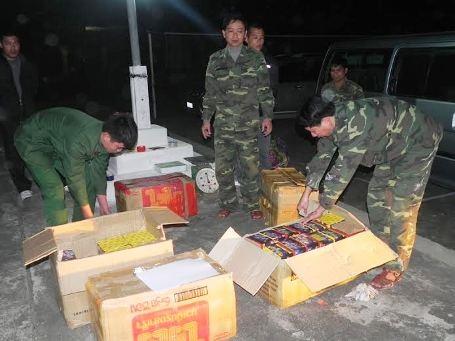 127 thùng pháo bị các lực lượng chức năng phát hiện và bắt giữ