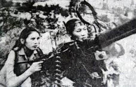 Hình ảnh những nữ pháo binh anh hùng (Ảnh minh họa)