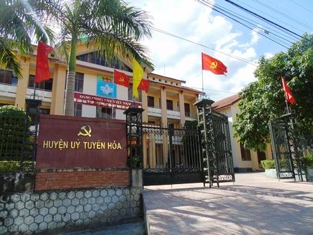 Huyện ủy huyện Tuyên Hóa, nơi ông Trần Thanh Hiền công tác