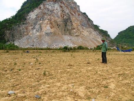 Ông Lê Minh Dẫn ngao ngán vì đá bay trắng đồng lạc.