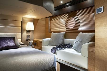 Cận cảnh phòng ngủ chính trên siêu du thuyền