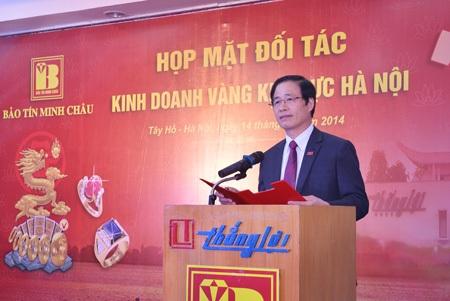 Doanh nhân văn hóa Tổng Giám đốc Vũ Minh Châu phát biểu tại buổi họp mặt