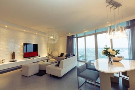 Phòng khách hiện đại với tầm nhìn thoáng đãng