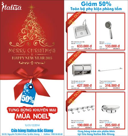 Chương trình khuyến mãi đặc biệt áp dụng từ 1/12/2014 tại Cửa hàng Italisa Bắc Giang