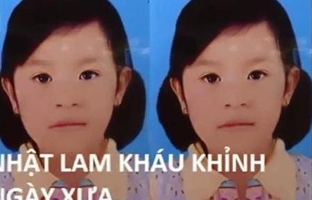 Bé Nhật Lam kháu khỉnh trước khi bị căn bệnh lạ ập đến (Hình cắt ra từ clip)