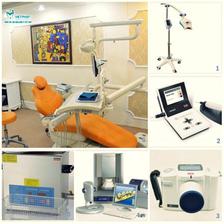 Hệ thống trang thiết bị hiện đại tại nha khoa Quốc tế Việt Pháp,