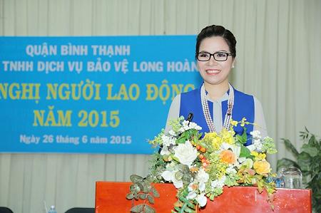 Hoa hậu Bùi Thị Hà - Tổng Giám đốc Tập đoàn Bảo vệ Long Hoàng