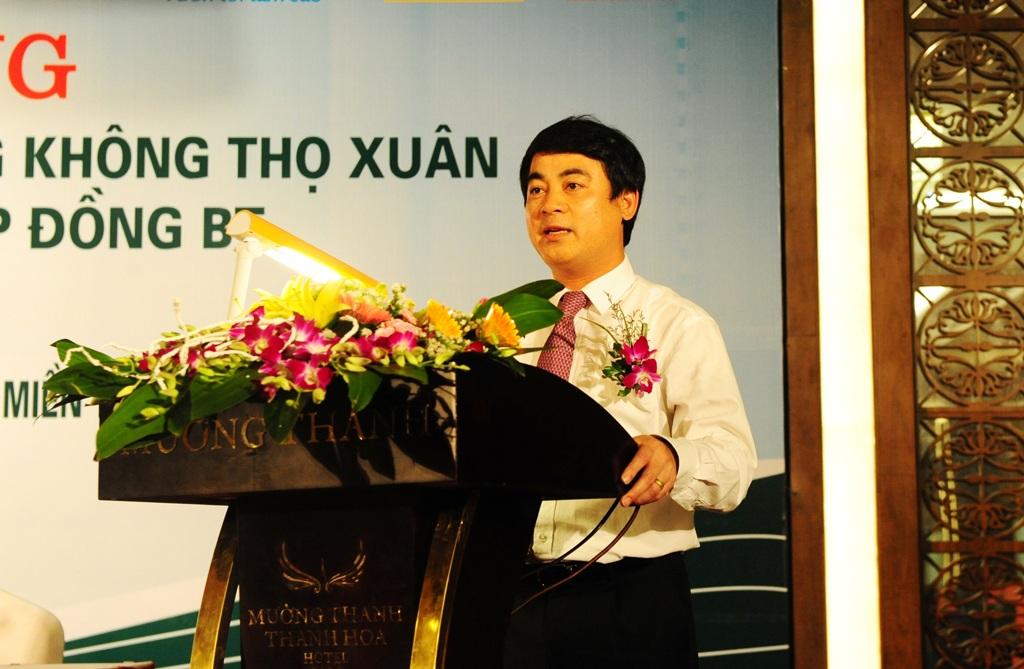 Ông Nghiêm Xuân Thành - Chủ tịch Hội đồng quản trị Vietcombank phát biểu tại Lễ ký kết