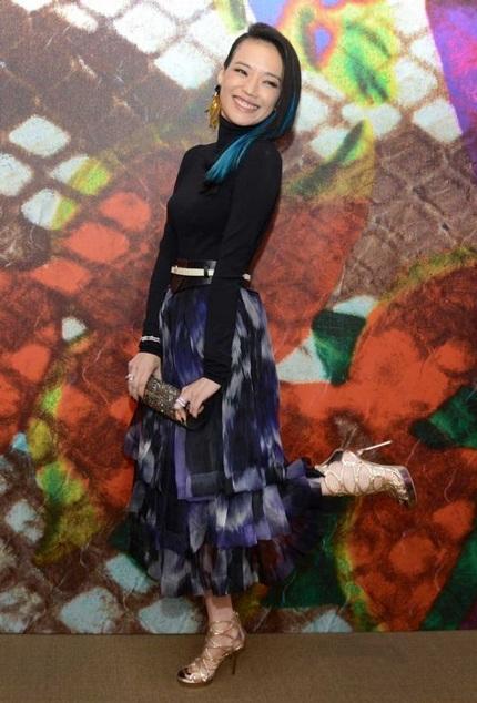 Thư Kỳ là một trong những nghệ sĩ được mời tham dự tuần lễ thời trang Milan (Ý), hôm 23/9.