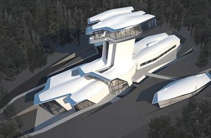 Bên ngoài ngôi biệt thự mới của Naomi Campbell tại Nga.