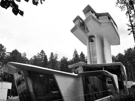 Nó có kiến trúc giống như một chiếc phi thuyền.