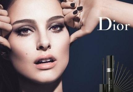 Hình ảnh hoàn hảo của nữ diễn viên Natalie Portman trong quảng cáo mascara mới của nhãn hiệu Dior.