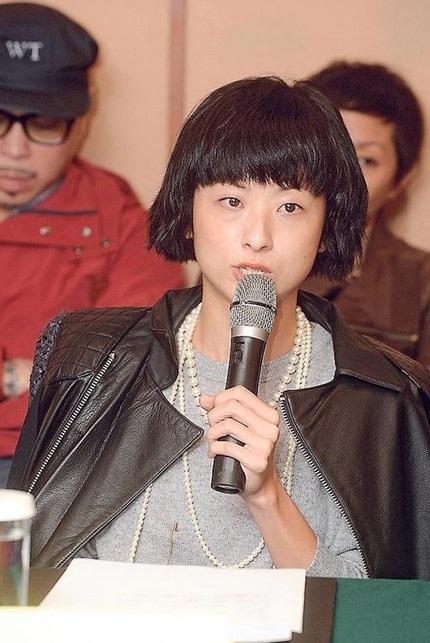 Từ Hào Oanh tại buổi họp báo