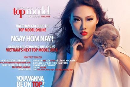 Chính thức khởi động cuộc thi Top Model Online 2013.