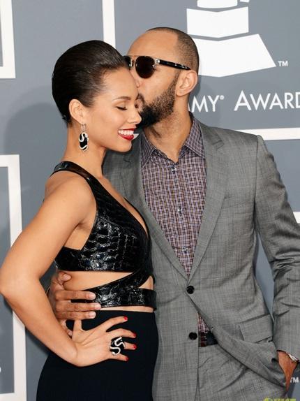 Alicia Keys và chồng - Swizz Beatz sánh đôi tới dự lễ trao giải Grammy