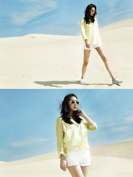 Shin Min Ah khoe đôi chân thon trong nắng gió Phan Thiết