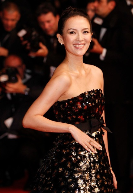 Chương Tử Di khoe nhan sắc kiêu sa tại Cannes