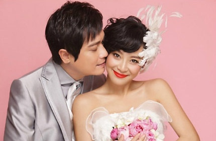 La Gia Lương và vợ hiện tại - nữ diễn viên Tô Nham