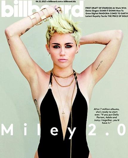 Miley Cyrustáo bạo trên tạp chí Billboard