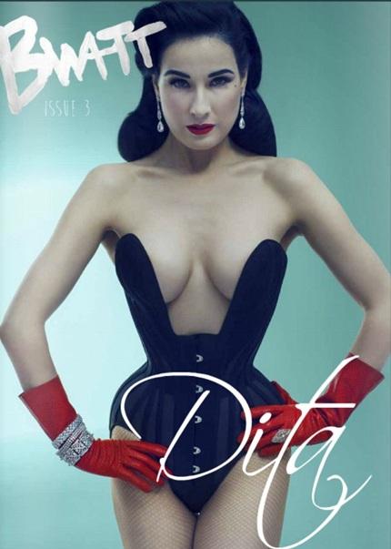 Vũ nữ thoát y Dita Von Teese trên tạp chí