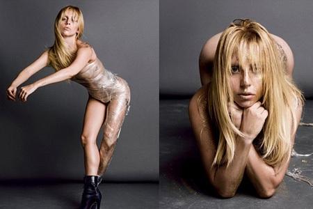 Sốc với loạt ảnh khỏa thân của Lady Gaga