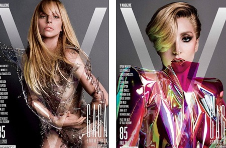 Lady Gaga với hai phiên bản bìa báo trên tạp chí V