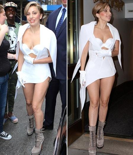 Nữ ca sĩ của Just Dance kết hợp váy ngắn với bốt da lộn cao cổ