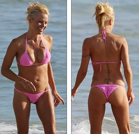 Pamela Anderson khoe dáng vóc săn chắc, gợi cảm ở tuổi 46
