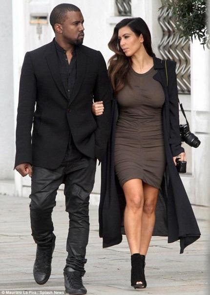 Kim Kardishian và Kayne West kiếm được 30 triệu USD trong năm qua.