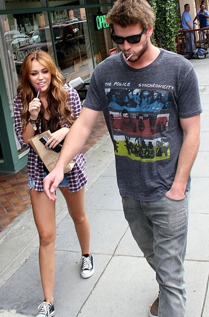 Liam và Miley khi còn hạnh phúc và đẹp đôi bên nhau