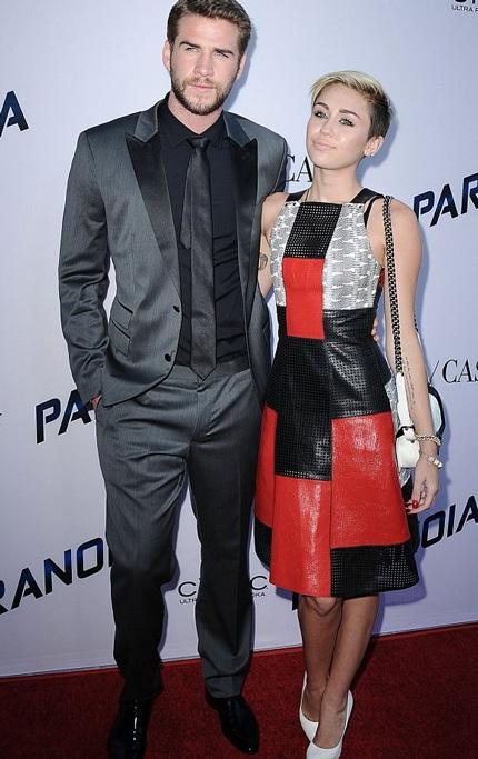 Miley và Liam sánh đôi tại một sự kiện hồi tháng 8 vừa rồi