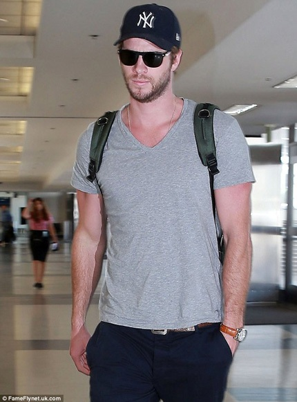 Liam xuất hiện tại sân bay ngày 18/9 vừa rồi