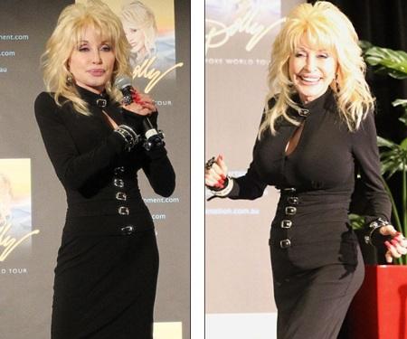 Phong thái trẻ trung và dáng vóc thon thả của bà Dolly khiến nhiều người khó tin bà sắp 70 tuổi