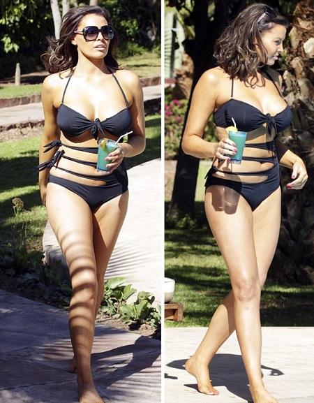 Jessia tranh thủ nghỉ ngơi đón nắng bên bể bơi tại một khu resort cao cấp ở Marrakech