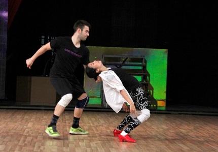 ...Ốc Thanh Vân đang luyện tập cho đêm chung kết Bước nhảy hoàn vũ 2014.