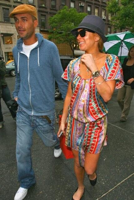 Lindsay Lohan và bạn trai cũ - Calum Best khi còn hạnh phúc