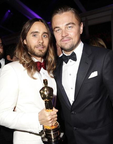 Jared Leto - Nam diễn viên phụ xuất sắc nhất chụp hình kỷ niệm cùng Leonardo DiCaprio