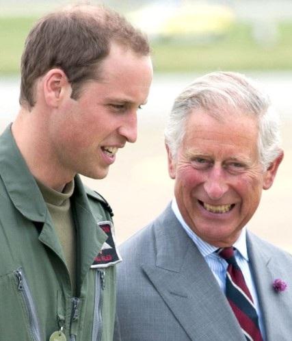 Hoàng tử William và con trai - George trông thật hạnh phúc bên nhau.