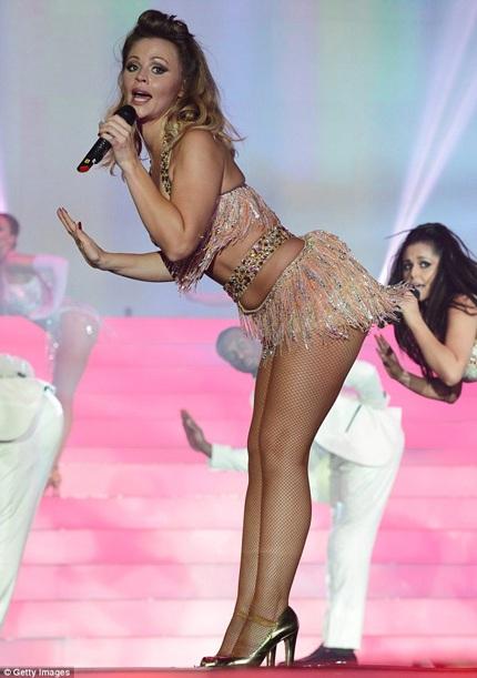Kimberley Walsh - thành viên của nhóm Girls Aloud tự hào với thân hình rất cân đối của mình.