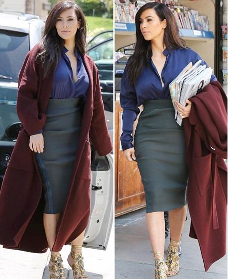 Kim Kardahshian mặc đẹp ra phố mua...báo