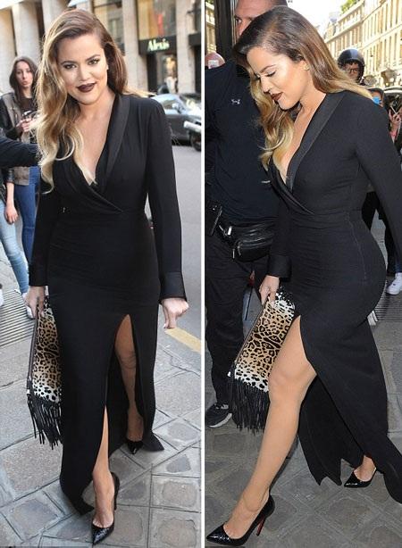 Khloe chọn váy xẻ tà táo bạo