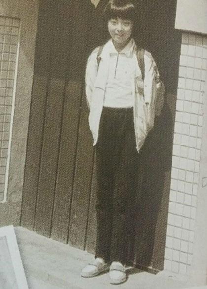 Kim Hee Sun khi là học sinh cấp 2.