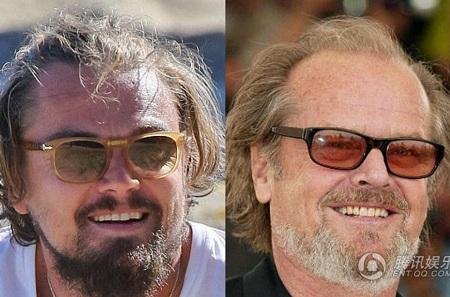 Leonardo DiCaprio trông già nua chẳng kém đàn anh Jack Nicholson