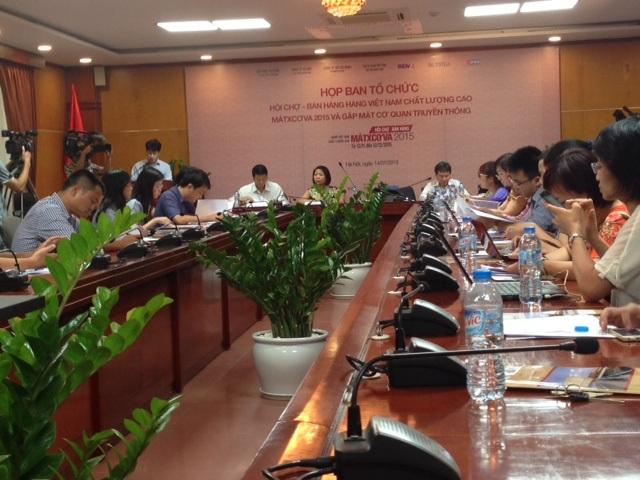 Họp báo thông tin Hội chợ Hàng Việt Nam chất lượng cao tại LB Nga