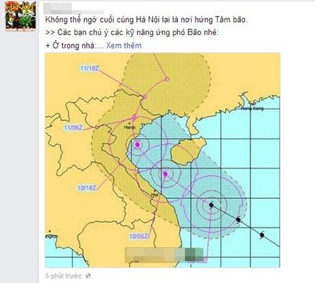 Hướng di chuyển của bão liên tục thay đổi là điều khiến dân mạng lo lắng