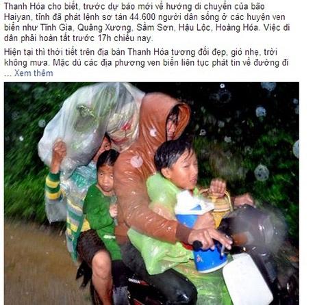 Việc di dân phòng chống bão ở Thanh Hoá