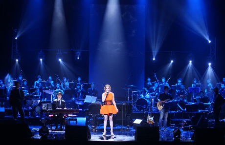 Sân khấu live show Cánh cung