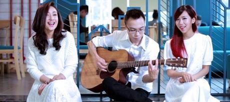 Hình ảnh trong clip của Anna Trương và Hằng Min