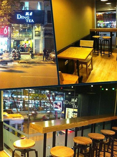 Không gian hiện đại, tiện nghi của cửa hàng Ding Tea ở khu vực Cầu Giấy mới khai trương